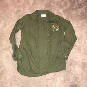 3/$15 Girls Justice button up shirt size 16